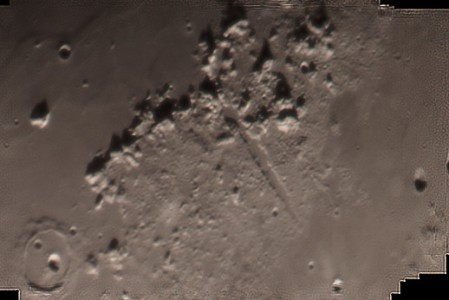 Vallis Alpes at Moon
